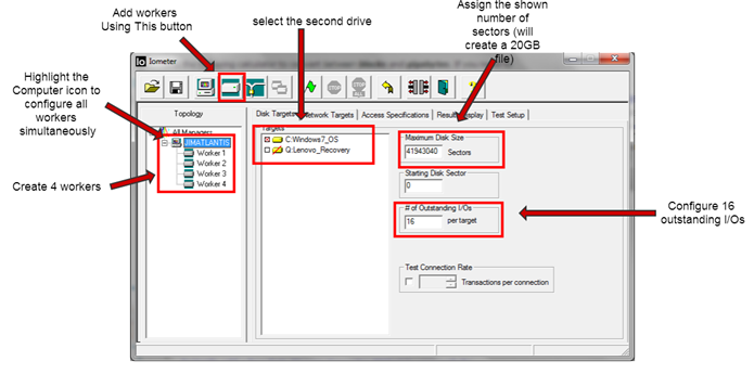 How to Use Iometer to Simulate a Desktop Workload