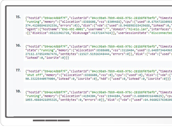 AI ready VDI: Integrate via open JSON API